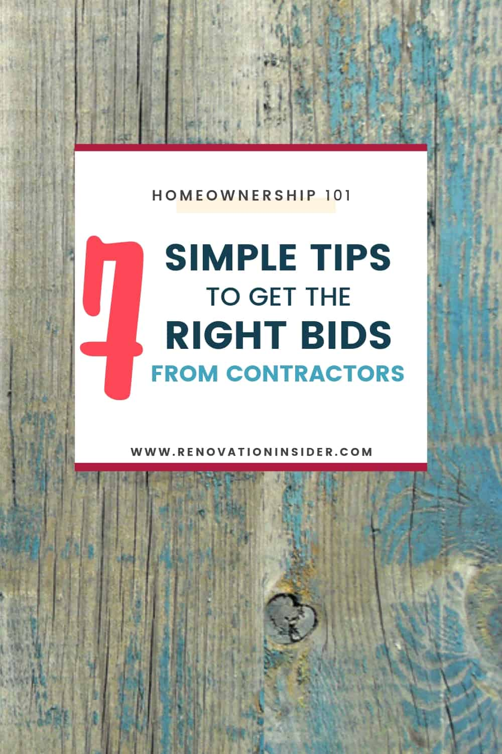 7 Simple Tips To Get Good Bids from Contractors