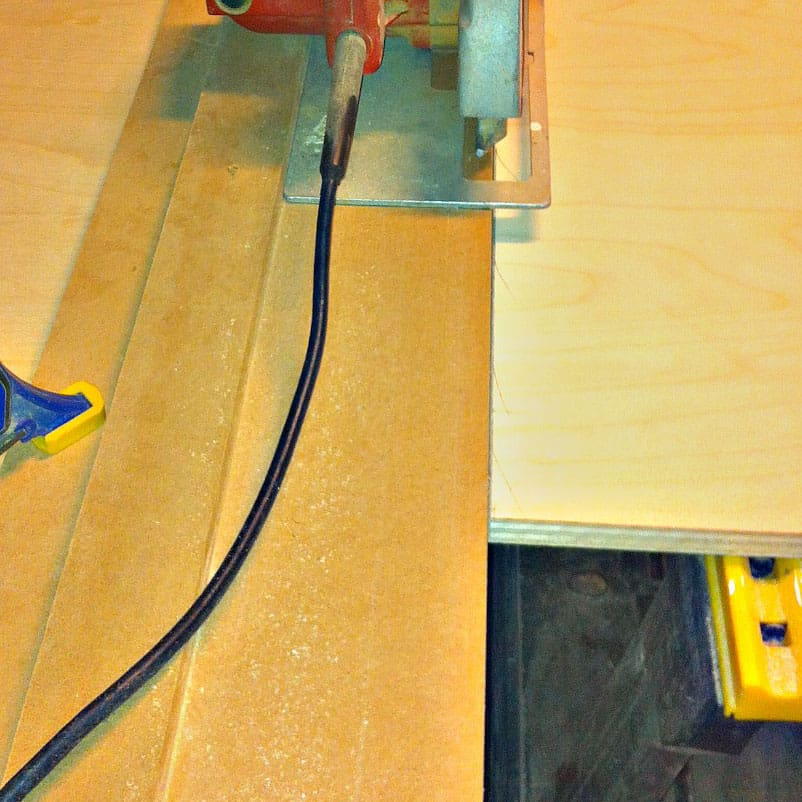 A Jig made with Medium Density Fiberboard (MDF)